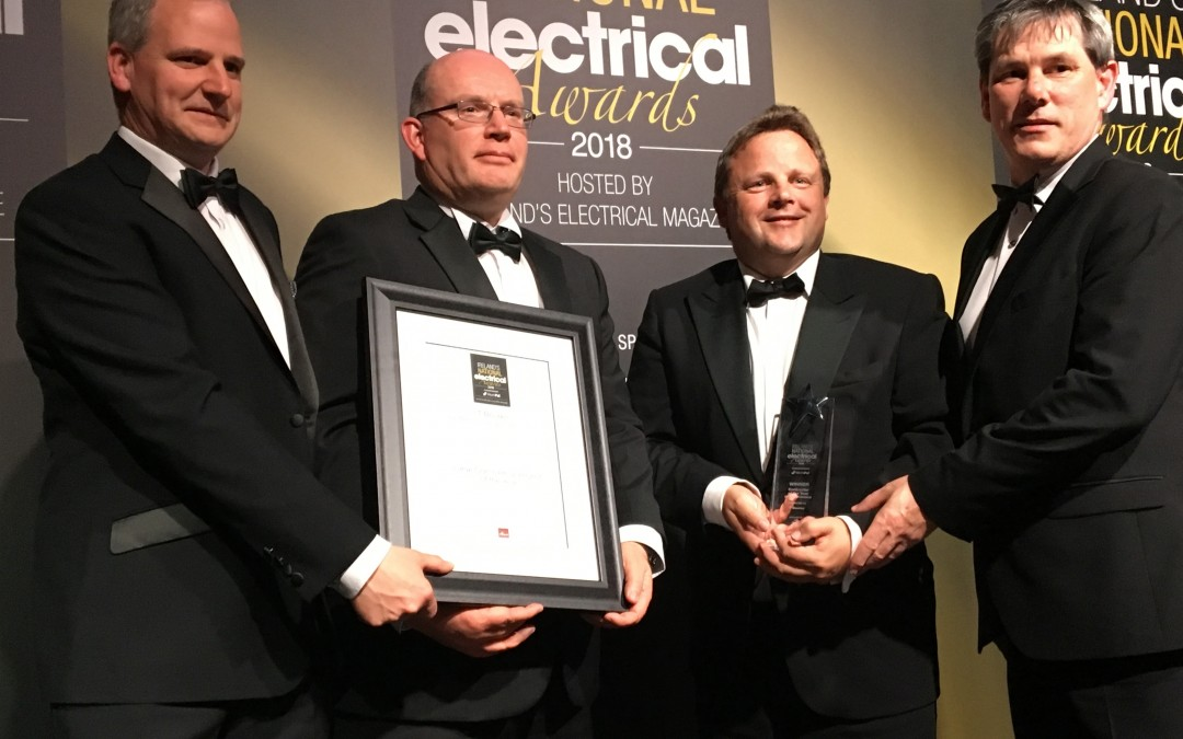 T BOURKE WIN AT NATIONAL ELECTRICAL AWARDS